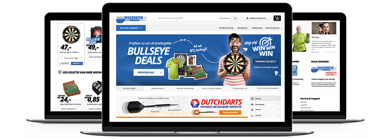 dartdiscounter Website